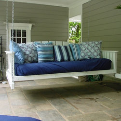 PorchSwingsPlus.com - Complete relaxation can be yours with our Daybed Polyvinyl Swing Bed. Made from polyvinyl resin (PVR), this virgin material is 100% waterproof, insect proof, and will not breakdown under UV rays. It is made to accommodate a typical twin sized mattress (not included) or can also be combined with our Swing Bed Cushions and Outdoor Pillows. Undoubtedly, a great item that can add character, charm, and appeal in your home. Buy yours today and test the gentleness and feel the comfort of this swing bed for yourself!
