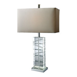 Dimond Lighting - Dimond Lighting D1813 Avalon Single-Light Table Lamp with Pure White Shade, in C - Features: