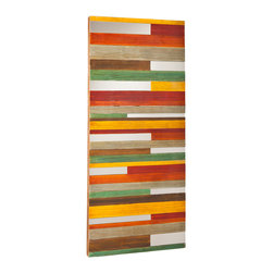 Holly & Martin - Holly & Martin Swice Wall Art - Never be afraid to add a pop of color! Our Swice Wall Art brings energy and light into a room while breaking up boring wall space. Lean it for an industrial touch; hang it vertically or horizontally to suit your space. The colorful stripes and dazzling mirrors are sure to make your day brighter.
