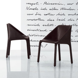 Poliform - Poliform Manta Dining Chair - Structure completly upholstered in leather.  Available with or without arms.  Manufactured by Poliform in Italy.  Price includes delivery to the USA.Designed in 2007.
