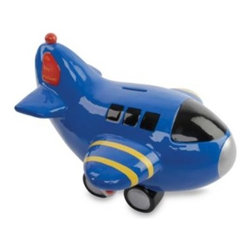 Mud Pie - Mud Pie Prince Airplane Bank - Start your little prince's savings off right with this charming ceramic blue plane bank. Yellow and red accents add just the right amount of color.