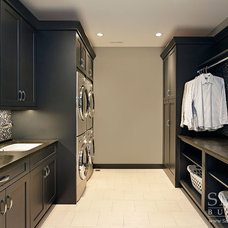 Transitional Laundry Room by SMART Construction Group, Ltd.