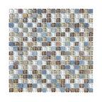 """Glass & Stone Mosaic - Ceramic Tileworks - Bliss Glass & Stone Mosaic Tile - 5/8""""x5/8"""" Autumn Tea"""