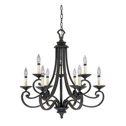 Designers Fountain - 9 Light Chandelier - 9 Candelabra Base Lamps, 60 W. Designers Fountain has been a leading manufacturer and distributor of decorative and functional and residential lighting in the United States since 1985. Headquartered in a state-of-the-art 225,000 square foot facility in the Los Angeles area.