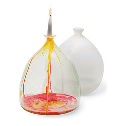 Candle Wax Vase, Opal - I love the arts and crafts element of this brilliant vase/candleholder. It's perfect for a living room coffee table or console.