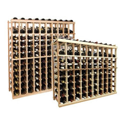 Wine Cellar Innovations - Vintner 10 Column Display Wine Rack, Rustic Pine, Unstained, 3 Feet - Each wine bottle stored on this ten column individual bottle wine rack is cradled on customized rails that are carefully manufactured with beveled ends and rounded edges to ensure wine labels will not tear when the bottles are removed. This wine rack also has a built in display row. Purchase two to stack on top of each other to maximize the height of your wine storage. Moldings and platforms sold separately. Assembly required.