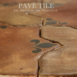 La Maison de Tunisie Terra Cotta Tile Collection - Inspired from 14th century Tunisian designs, this terra cotta tile collection is durable and beautiful. Using hand made European terra cotta tile, we kiln fire our decoratives - and an installation of this floor in a commercial or residential setting will last a lifetime. We have been developing this collection for nearly a year - inspired by the years François lived in Tunis while his father was a French Professor in University. He remembers studying amongst other children speaking Arabic and using a quill and ink to write his essays. The years he lived there, François will never forget. This collection takes him back to the villa where he played under the hot sun, the kitchen bustling with Arabic song and intense spice scents perfuming the air.
