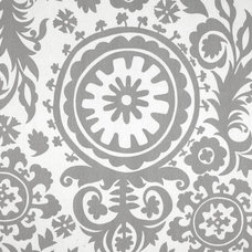 Damask Curtain Panels Grey and White Drapery by exclusiveelements