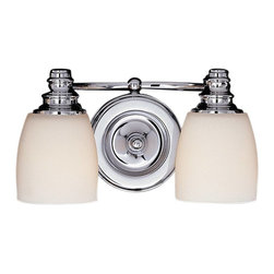Murray Feiss - Murray Feiss Bentley Bathroom Lighting Fixture in Chrome - Shown in picture: Bentley Vanity Strip in Chrome finish with Opal white etched glass shade