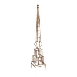 iMax - William Garden Trellis - The William garden trellis will give your climbing plants a sturdy iron form while complimenting your decor with its classic design.