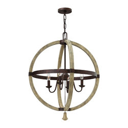 Fredrick Ramond - Fredrick Ramond FR40564IRR Middlefield Iron Rust 4 Light Chandelier - Fredrick Ramond FR40564IRR Middlefield Iron Rust 4 Light Chandelier