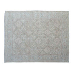 Stone Wash Oriental Rug, 9X12 Hand Knotted 100% Wool Sultanabad Area Rug SH11106 - Hand Knotted Oushak & Peshawar Rugs are highly demanded by interior designers.  They are known for their soft & subtle appearance.  They are composed of 100% hand spun wool as well as natural & vegetable dyes. The whole color concept of these rugs is earth tones.