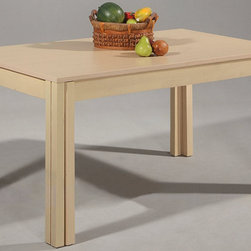 Chintaly Imports - Caroline Extendable Dining Table - Beech Veneer and Solid Beech.