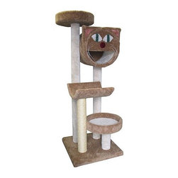 "Molly and Friends - 66"" Bed, Cave and Cradle Cat Tree - Why not give your cat a place to play with all of his friends? The Molly 4-Tier Scratching Post not only offers hours of fun and excitement for any cat, but is also the perfect place to a afternoon nap. A variety of colors you can find the perfect fit for any home. Create a unique look by mixing and matching the colors of the parts and posts. Features: -4'' Solid untreated heart of pine core posts.-Parts include 2 cat beds, cradle, and molly cat cave.-Guaranteed not to tip, strong enough for multiple cats.-4 Types of napping spots at different heights for multiple cats.-Durable sisal rope post is great for heavy scratchers.-Includes one 2 foot section of wrapped sisal rope on one post.-Separate carpet color for parts and poles.-Distressed: No.-Country of Manufacture: United States.Dimensions: -Dimensions: 66'' H x 24'' W x 24'' D, 99 lbs.-Overall Height - Top to Bottom: 66.-Overall Width - Side to Side: 66.-Overall Depth - Front to Back: 24.-Overall Product Weight: 99 lbs."