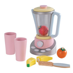 "KidKraft - Kidkraft Kids Children Home Indoor Pretend Play Cooking Toy Pastel Smoothie Set - Fruit Smoothies are all the rage right now. With our new Pastel Smoothie Set, kids can now pretend to make their own healthy drinks. This wooden 9 piece set wood be a great addition to any pretend kitchen. Dimension: 7.25""Lx 5""Wx 6.75""H"