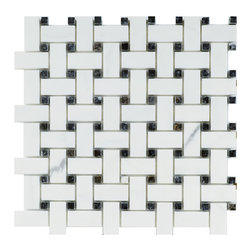 STONE TILE US - Stonetileus 10 pieces (10 Sq.ft) of Mosaic tile basket view Marble - Mosaic tile basket view  MarbleFree shipping.. Set of 10 pieces, Covers 10 sq.ft.