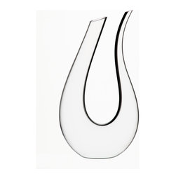Riedel - Riedel Black Tie Amadeo decanter - Curves ahead! This charming lead crystal decanter adds an unusual swoosh of style to your table.