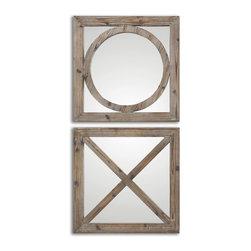 Uttermost - Baci E Abbracci Wooden Mirrors Set of 2 - Baci E Abbracci Wooden Mirrors Set of 2