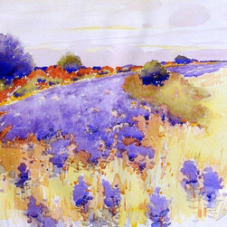 "Arthur Wesley Dow Flowering Field - 16"" x 24"" Premium Archival Print - 16"" x 24"" Arthur Wesley Dow Flowering Field premium archival print reproduced to meet museum quality standards. Our museum quality archival prints are produced using high-precision print technology for a more accurate reproduction printed on high quality, heavyweight matte presentation paper with fade-resistant, archival inks. Our progressive business model allows us to offer works of art to you at the best wholesale pricing, significantly less than art gallery prices, affordable to all. This line of artwork is produced with extra white border space (if you choose to have it framed, for your framer to work with to frame properly or utilize a larger mat and/or frame).  We present a comprehensive collection of exceptional art reproductions byArthur Wesley Dow."