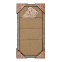 Enchante Accessories Inc - Distressed Wood Framed Burlap Inspiration Board , Distressed White - This message board features a distressed wooden framed burlap board. Use it as a traditional board for notes & to-do lists. With a distressed wooden frame, this burlap board works as well in the dining room, kitchen or mud room as it does in the home office.