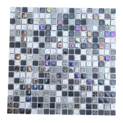 Alloy Deco Surf Gray Glass Tile