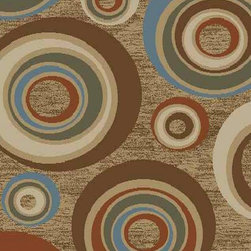 Ottomanson - Beige Contemporary Abstract Design Rug - Royal Collection offers a wide variety of machine made modern and oriental design area rugs with durable, stain-resistant pile in trendy colors.
