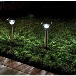 Homebrite - Homebrite Solar Power Sierra Path Lights - Set of 8- Stainless Steel Multicolor - Shop for Lighting from Hayneedle.com! About Homebrite: Founded in 1985 Homebrite restructured their manufacturing process in 2002 in order to focus on developing and improving solar lighting technology. Their innovations in this field led them to quickly become one of the leading specialists in LED lighting. Their dedication to only bringing proven-effective products to the market is reflected in their 10 000 hours of testing to ensure product quality and reliability. Homebrite's constant innovation led to the development of their Super Bright Technology delivering intense brightness with the energy-saving cost-effective use of solar technology. From solar path lights to solar stepping stones and rock spotlights Homebrite's products will provide safety and energy-efficiency to your favorite outdoor spaces.