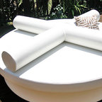 The B-Roll Small Bolster by La-Fete Design - The B-Roll Small Bolster by La-Fete Design will serve best on top the most perfect beds from La-Fete. Set of two bolsters to join with strap under to form soft-support armrests. This is the perfect resting place for your family, friends and guests.