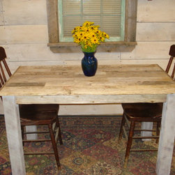 Driftwood Table (50 x 28 x 29h) - Rustic, Handmade, Driftwood Table