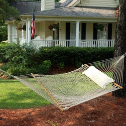 #14 Deluxe Cotton Hammock - Oh, heaven! A hammock floating between two trees, a breeze in the air and the scent of your garden flowers — and a nap, of course.