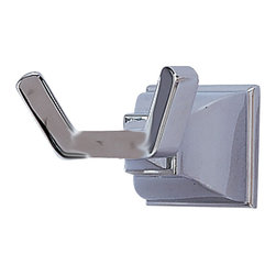 American Standard - Town Square Double Robe Hook in Polished Chrome - American Standard 2555.041.002 Town Square Double Robe Hook in Polished Chrome.