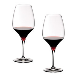 Riedel - Riedel Vitis Cabernet Glasses - Set of 2 - Lead crystal launched in 2007 recommended for: Albarino, Bordeaux, Brunello di Montalcino, Cabernet Franc, Cabernet Sauvignon, Chablis, Domina, Graves rouge, Listrac, Lagrein, Margaux, Mèdoc, Merlot, Montagny, Pauillac, Pomerol, Rioja, St. Emilion, St. Estèphe, St. Julien, Sangiovese, Sangiovese Grosso, Shiraz, Syrah, Tempranillo, Zweigelt.