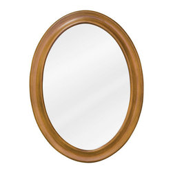 Elements - Elements MIR060 Clairemont Collection Oval 23-3/4 x 31-1/2 Inch Bathroom Vanity - This fashionable vanity mirror from Element's Clairemont Collection features a oval, portrait-hung design that's perfect for complementing a variety of bathroom decor. Boasting elegant craftwork and gorgeous beveled glass, this mirror is the ideal choice for completing any bathroom makeover.Vanity Mirror: Designed to accompany the Elements vanity VAN060. This mirror looks great as either part of a vanity set, or as a standalone accessory. Features: