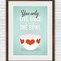 Vintage Bowl Art Print by ReStyleshop - This sentiment is perfect fThis sentiment is perfect for a homey kitchen.or a homey kitchen.