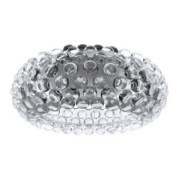 Halo Acrylic Crystal Flush Mount Ceiling Light - 19.5W in. Clear - Small yet brilliant, the Halo Acrylic Crystal Semi-Flush Mount Ceiling Light - 12W in. Clear makes a designer impact in smaller spaces. This light snuggles up close to the ceiling, casting light and designer style. With a look like bubble wrap, everyone will love the clear acrylic crystal bubbles on the circular base.About East End ImportsEast End Imports is based in New York City. They design and manufacture modern furniture and lighting that has an elegant, exciting, look that doesn't go out of style. East End Imports offers high-quality, innovative furniture at an affordable price. Their seating options, lounge furniture, and lighting are just right for the modern office, home bar, outdoor living space, or contemporary home. Quality construction and superb design make each piece a style statement of which you'll never tire.