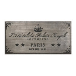 John Kowalski - John Kowalski Palais Royale Wall Plaque X-65831 - Wall plaque features an antiqued silver leaf finish with dusty black, embossed details.