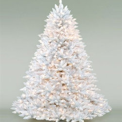White Ashley Clear Pre-Lit Christmas Tree - THE PURE MAGIC OF CHRISTMAS WITH THE WHITE ASHLEY CLEAR PRE-LIT CHRISTMAS TREE