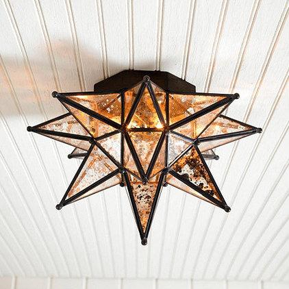Mediterranean Flush-mount Ceiling Lighting Moravian Star Ceiling Mount Mercury Glass | Ballard Designs