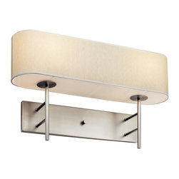 Kichler - Kichler Lydon Wall Sconce in Satin Nickel - Shown in picture: Kichler Wall Sconce 2-Light Fluorescent in Satin Nickel