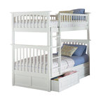 Atlantic Furniture - Atlantic Furniture Columbia Twin over Twin Bunk Bed-Caramel Latte - Atlantic Furniture - Bunk Beds - AB55107 - The Atlantic Furniture Columbia Twin over Twin Bunk Bed has a clean modern look with subtle Mission styling. The simple lines of the head and foot boards have the square posts and slats characteristic of this design. This versatile bunk bed is available in a number of options that is sure to please both you and your child.