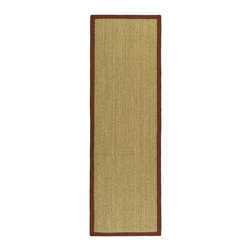 Safavieh - Safavieh Natural Fiber Casual Rug X-82-D511FN - Hand-woven with natural sea grass, this casual area rug is innately soft and durable. This densely woven rug will add a warm accent and feel to any home. The 100-percent Cotton canvas backing adds durability.