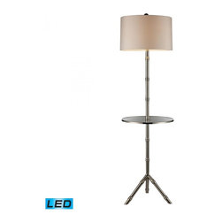 Dimond - One Light Silver Plated Floor Lamp - One Light Silver Plated Floor Lamp