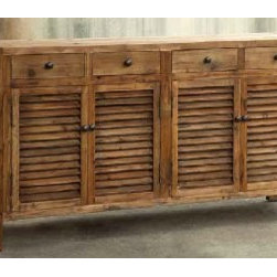 Park Hill Collection Pine Furniture - Park Hill Collection Rustic Shutter Cabinet made from old pine