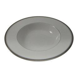 Royal Worcester - Royal Worcester Viceroy Platinum Rim Soup Bowl - Royal Worcester Viceroy Platinum Rim Soup Bowl