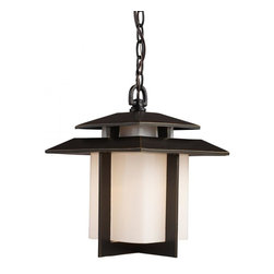 Joshua Marshal - One Light Hazlenut Bronze Hanging Lantern - One Light Hazlenut Bronze Hanging Lantern