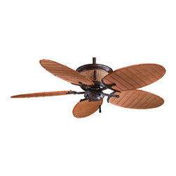 Minka Aire - F580-VR/BB Shangri-La 5 Blade 52 In. Indoor / Outdoor Ceiling Fan W/Wall Control - 14 Degree blade pitch