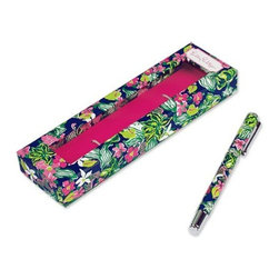 Lilly Pulitzer - Lilly Pulitzer Ink Pen, Tiger Lilly - Our Lilly Pulitzer Ink Pen, Tiger Lilly are sure to impress in both style and quality. Whether signing autographs or writing a note to your sweetie, Lilly Pulitzer ink pens are sure to impress in both style and quality. You won't find a better looking ballpoint pen. When Lilly prints are featured on a classic pen like this, the elegance and simple beauty of this writing utensil will have you smiling secretively as you jot notes or write the next best-seller.