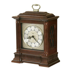 HOWARD MILLER - Howard Miller Akron Bracket Style Mantel Clock - This bracket style clock is embellished with stylish details from top to bottom.