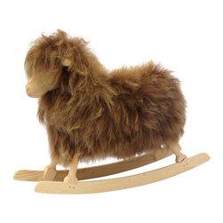 Rocking Sheep by Povl Kjer, Icelandic Brown - Handmade in Denmark