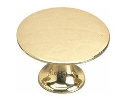Richelieu Hardware - Richelieu Povera  Classic Solid Brass Knob 30mm Brass - Richelieu Povera  Classic Solid Brass Knob 30mm Brass